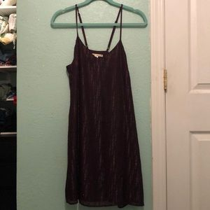 Maroon shift dress